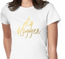 DIY Blogger - Faux Gold Foil Womens Fitted T-Shirt