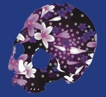 flower skull by Wallfower