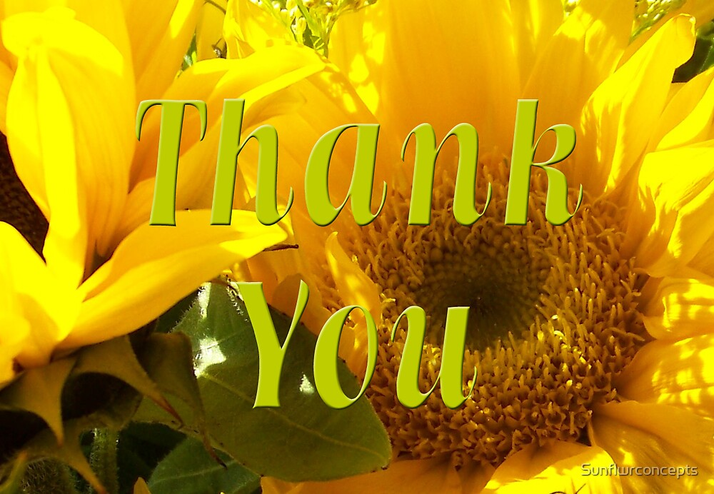 Thank You by Sunflwrconcepts