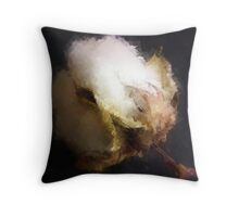 Raw Cotton Throw Pillow