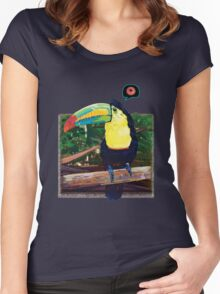 Toucan's Loop Women's Fitted Scoop T-Shirt