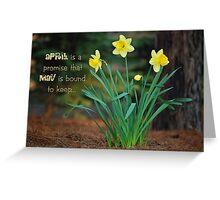 April Daffodils Greeting Card