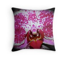 Pink & White Polkadots! Throw Pillow