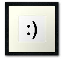Smile Icon Framed Print