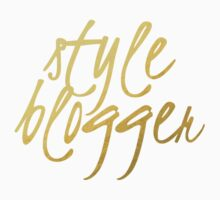 Style Blogger - Faux Gold Foil One Piece - Long Sleeve