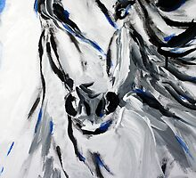 Free Spirit Horse - Abstract Horse Art by Valentina Miletic by Valentina Miletic