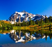 Mount Shuksan from Picture Lake by RavenFalls