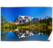 Mount Shuksan from Picture Lake Poster