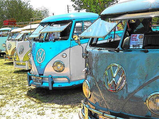 Surfs up and the VW-Bus by Rita  H. Ireland