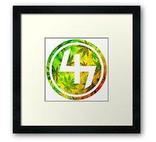 47 (4th and 7th Chakra) Rastafarian Weed Framed Print