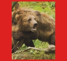Brown bear cubs playing. Kids Clothes