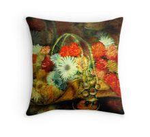 Brass Basket Throw Pillow