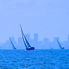 Yacht Race On The Bay by Ronald Rockman