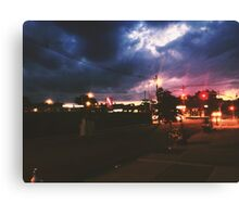 Pizza Time during a storm Canvas Print