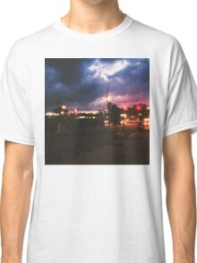 Pizza Time during a storm Classic T-Shirt