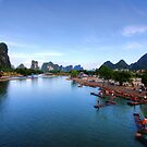Li-River at Yangshuo by Christopher Meder