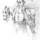 Amish man and Horse by Luis Perez