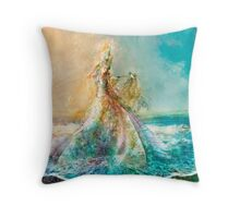 The Shell Maiden Throw Pillow