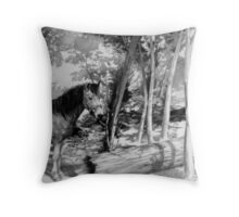Horse in Woods Throw Pillow