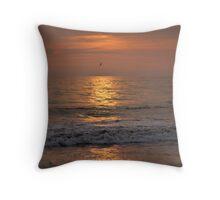 Leon beach sunset Throw Pillow