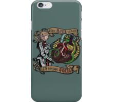 The Mind is the Key to the Heart (dark teal) iPhone Case/Skin