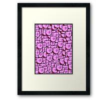 Kirby WTF !!! Framed Print