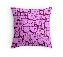 Kirby WTF !!! Throw Pillow