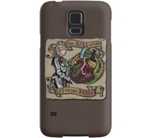 The Mind is the Key to the Heart (brown) Samsung Galaxy Case/Skin