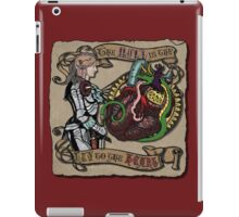 The Mind is the Key to the Heart (crimson)  iPad Case/Skin