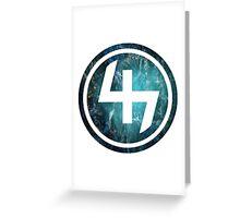 47 (4th and 7th Chakra) Teal Blue Crab Nebula  Greeting Card