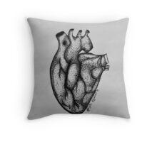 Dotted Heart Throw Pillow