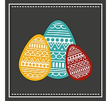 Patterned Eggs, Easter Design Photographic Print