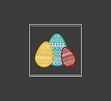Patterned Eggs, Easter Design by tshirtdesign