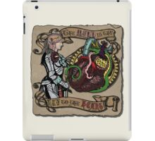 The Mind is the Key to the Heart (cream) iPad Case/Skin