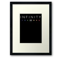 Infinity - White Clean Framed Print