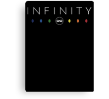 Infinity - White Clean Canvas Print