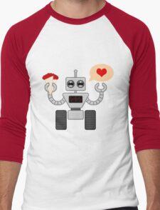 The Robot Who Loved Men's Baseball ¾ T-Shirt
