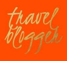Travel Blogger - Faux Gold Foil Kids Tee