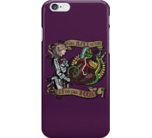 The Mind is the Key to the Heart (royal purple) iPhone Case/Skin