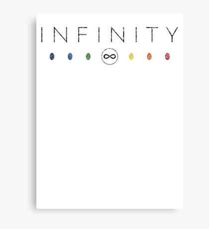 Infinity - Black Dirty Canvas Print