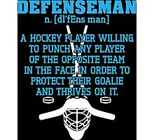 Defenseman  Photographic Print