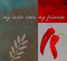 Triloli Kitchen Decor - Red 153z by Aimelle