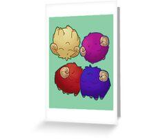 Fluffy Balls of Cute Greeting Card