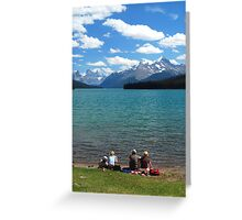 Lunch Time - Maligne Lake Canada Greeting Card