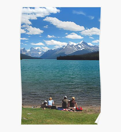 Lunch Time - Maligne Lake Canada Poster