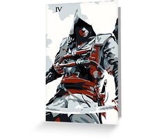Assassin's Creed IV Black Flag Edward Kenway Greeting Card