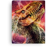 Dinosaur Space Party Canvas Print