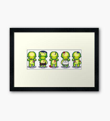 The Zombie Hoard Framed Print