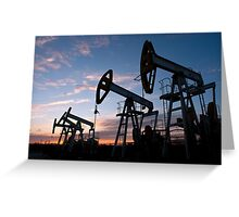 oil pumps  Greeting Card