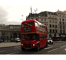 London Bus By Admiralty Arch Photographic Print